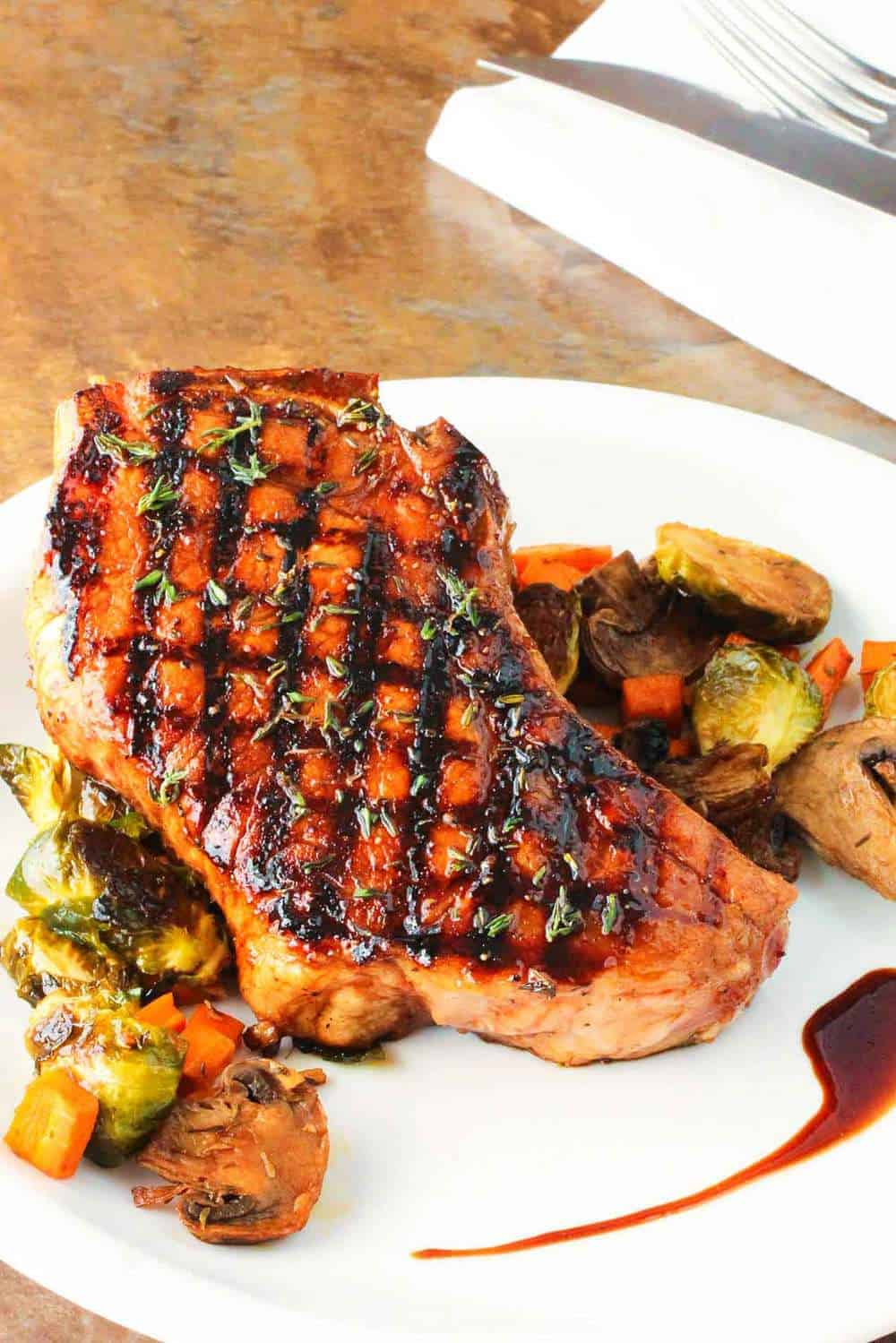 pork chops grilled balsamic chop grill recipes recipe cooking oven feed howtofeedaloon