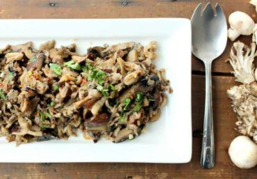 Wild Mushrooms with Shallots and Garlic recipe