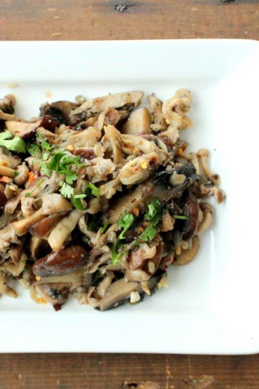 Wild Mushrooms with Shallots and Garlic recipe