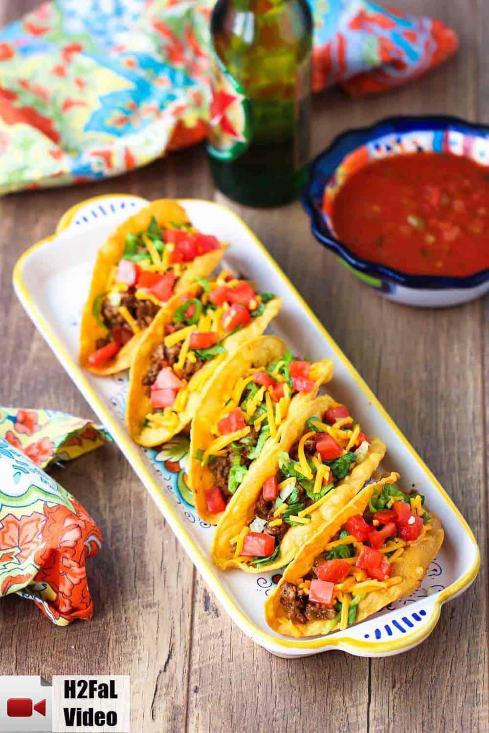 Tex-Mex Beef Tacos recipe