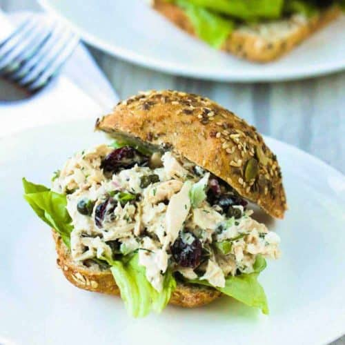 Best-Ever Tuna Salad on a white plate