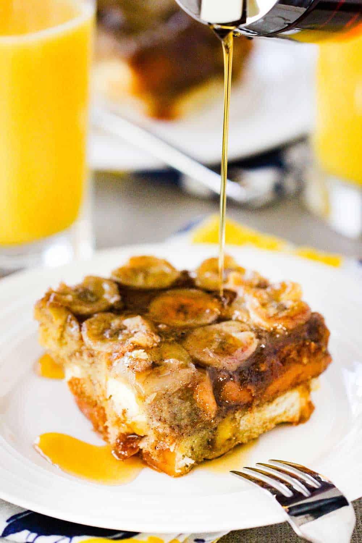 caramel banana baked French toast recipe