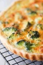 broccoli and cheddar quiche recipe