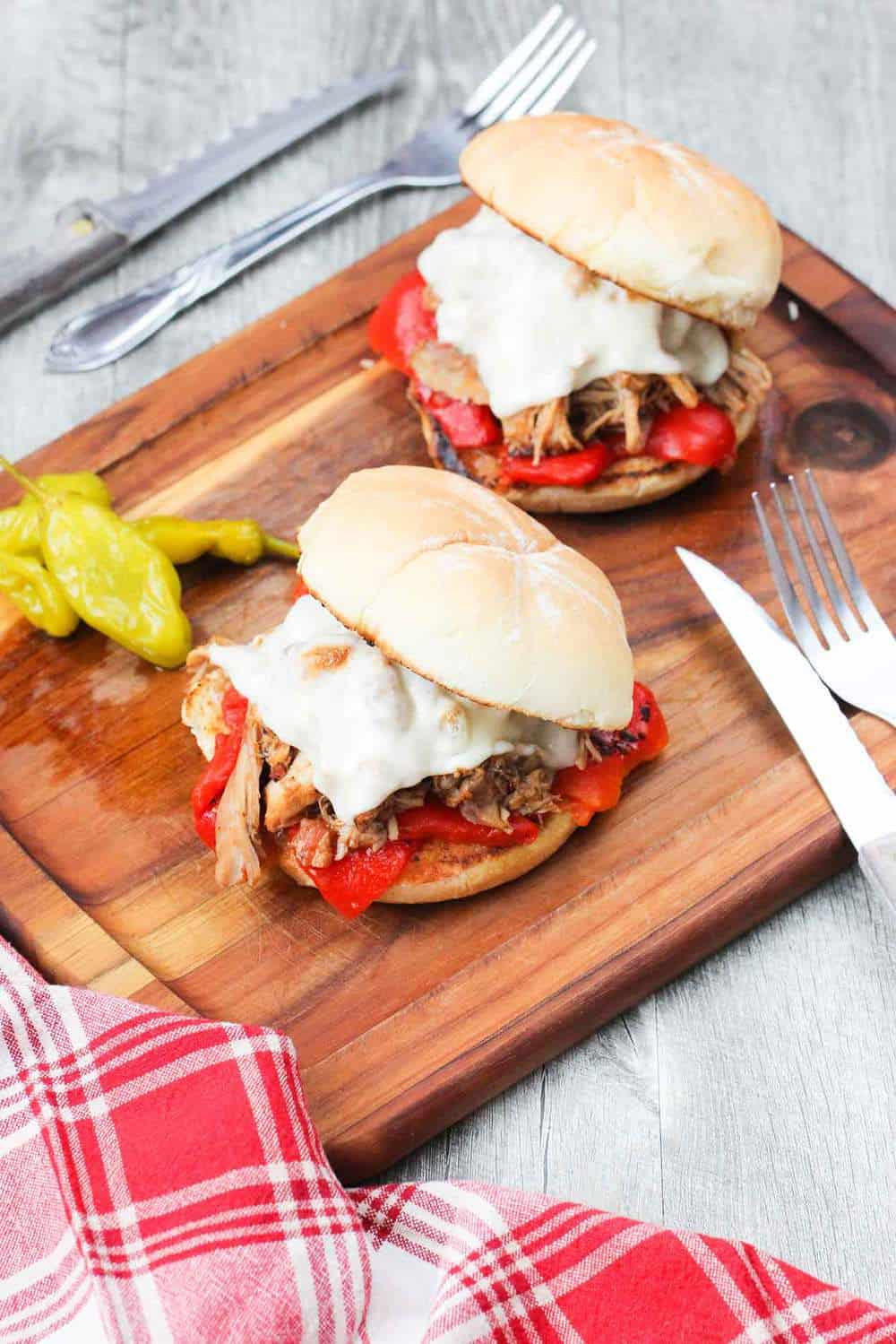Italian Pulled Chicken sandwich recipe