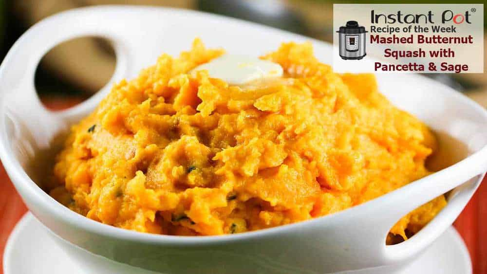 Mashed Butternut Squash with Pancetta and Sage recipe