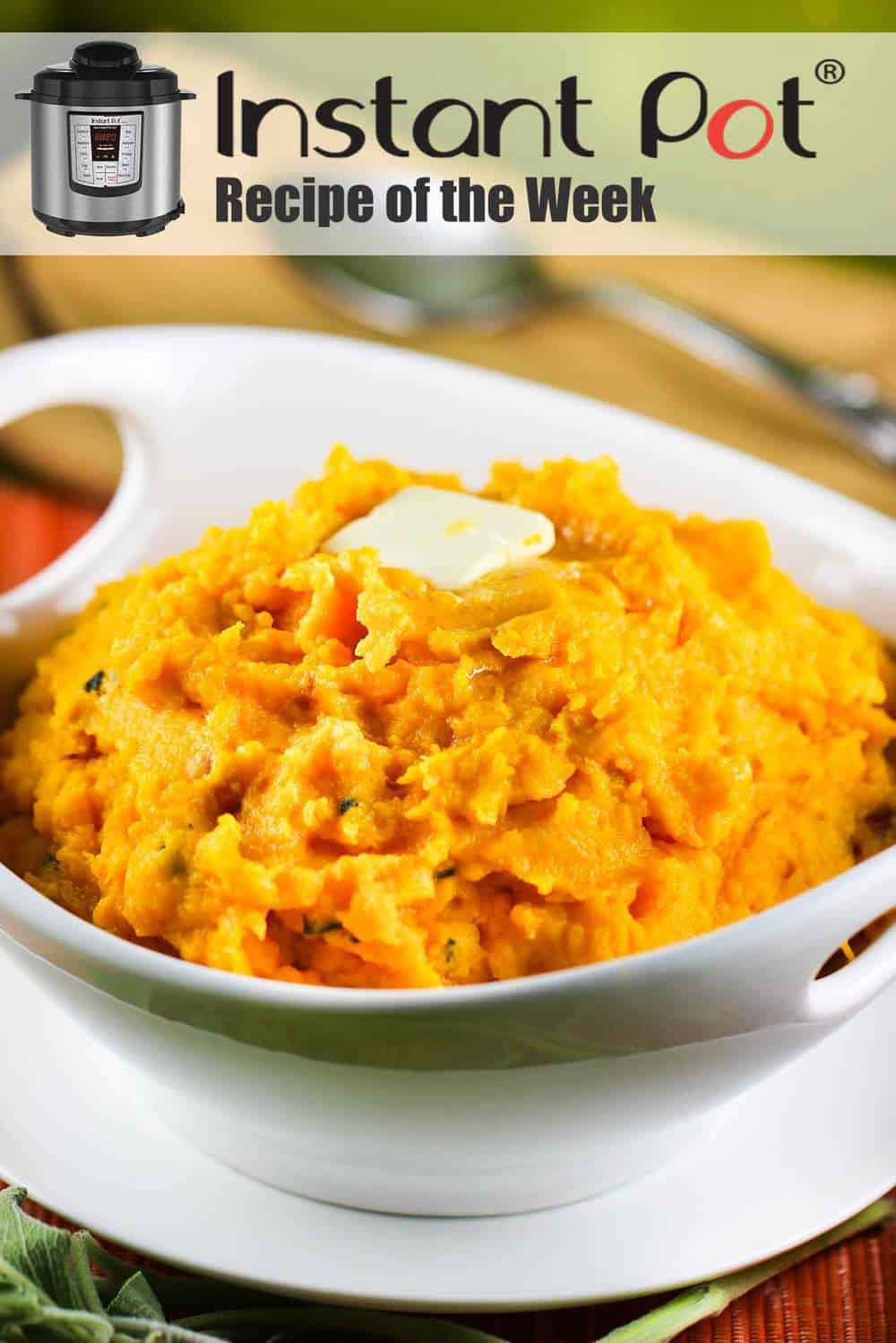 Instant Pot Mashed Butternut Squash with Pancetta and Sage