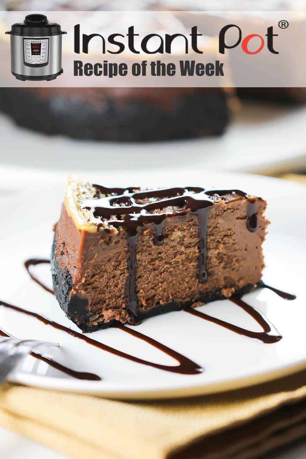 Instant Pot Chocolate Marble Cheesecake
