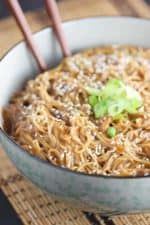 Chinese noodles with peanut sauce