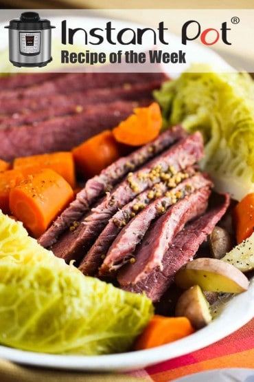 Instant Pot corned beef with cabbage recipe