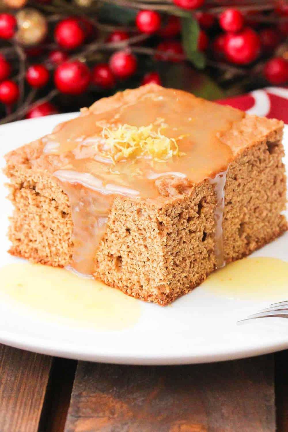 Gingerbread cake with lemon sauce recipe