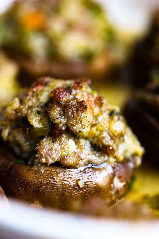 sausage-stuffed mushrooms recipe