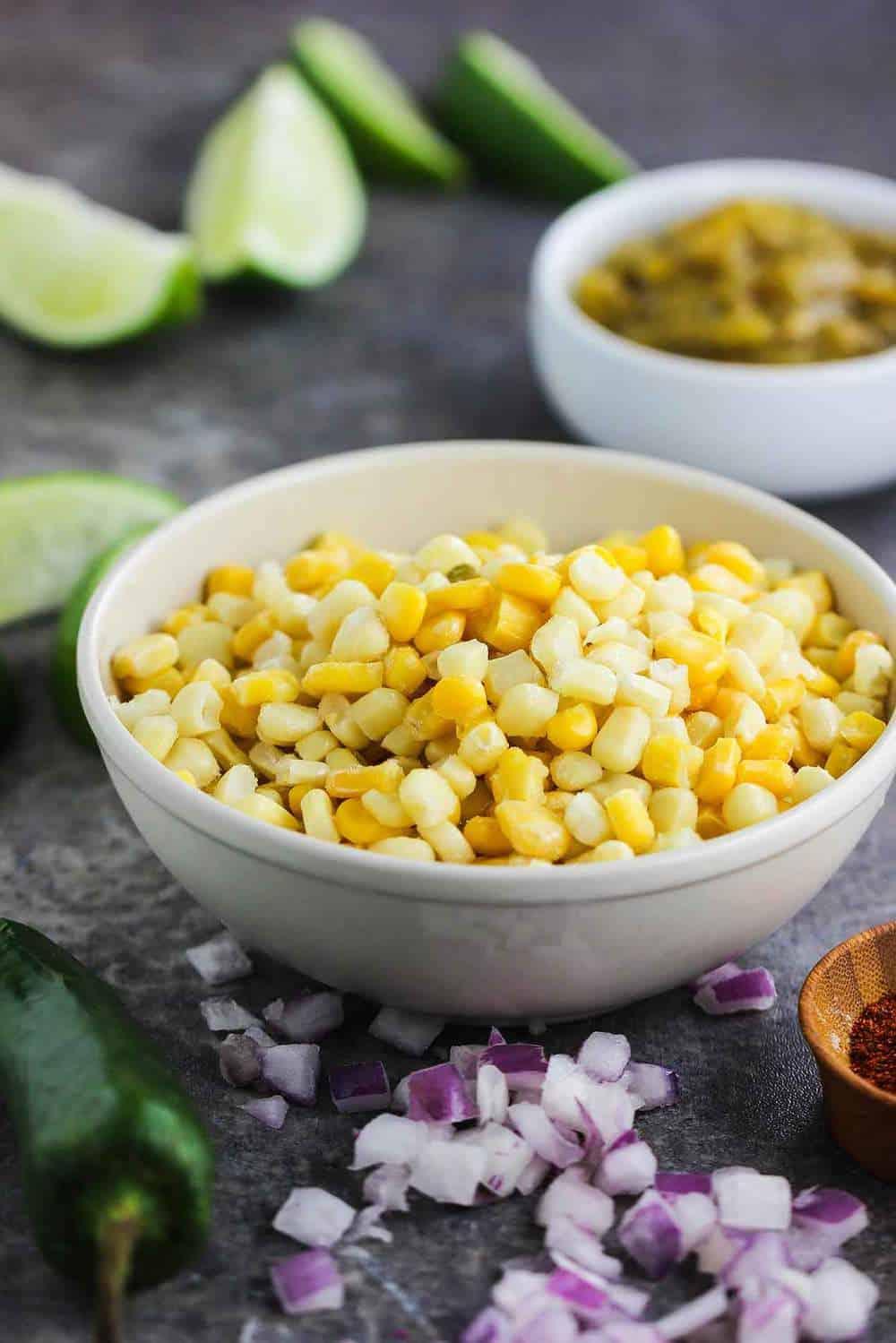 Skillet Roasted Corn salsa recipe