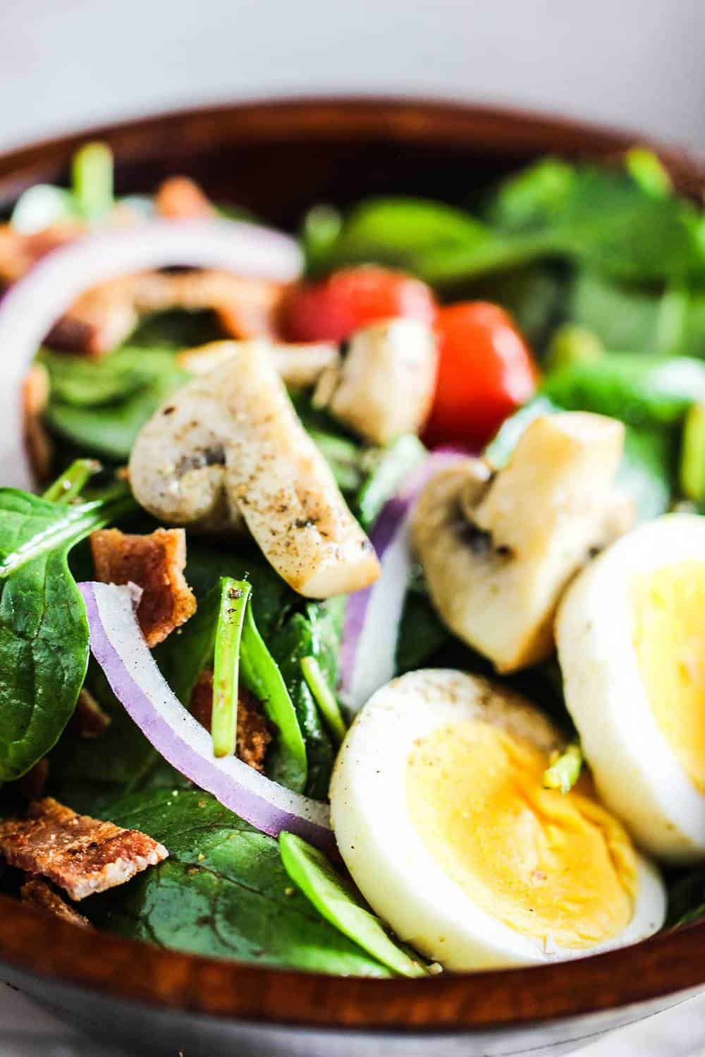 Warm Spinach and Bacon Salad recipe