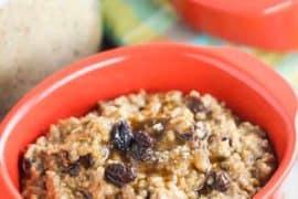 Instant Pot Cinnamon Raisin Steel-Cut Oats recipe