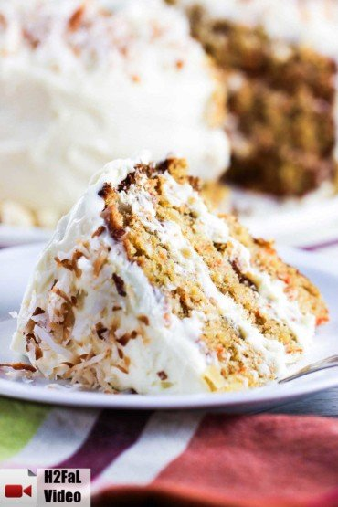 Carrot Cake with Coconut, Ginger and Macadamia Nuts recipe
