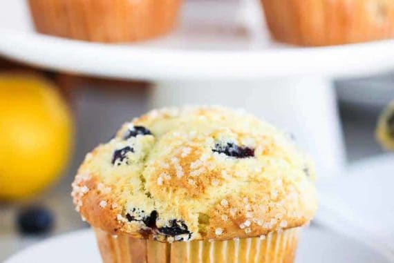 Lemon Olive Oil and Blueberry Jumbo Muffin recipe