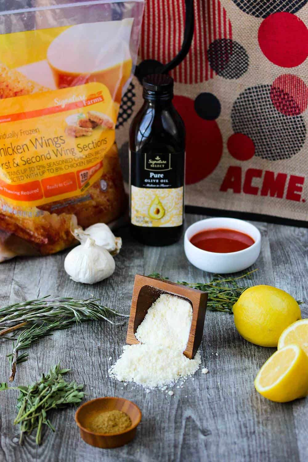 Parmesan and Garlic Chicken Wings recipe
