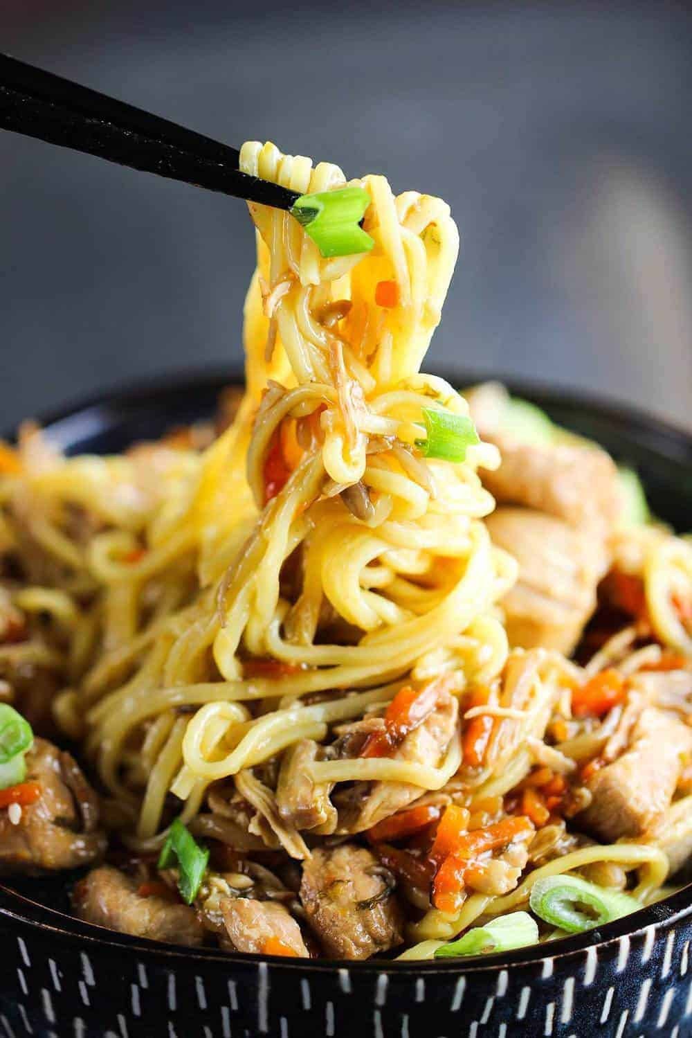 Slow Cooker Chicken Chow Mein recipe