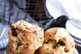 Ham and Gruyere Savory Popovers recipe