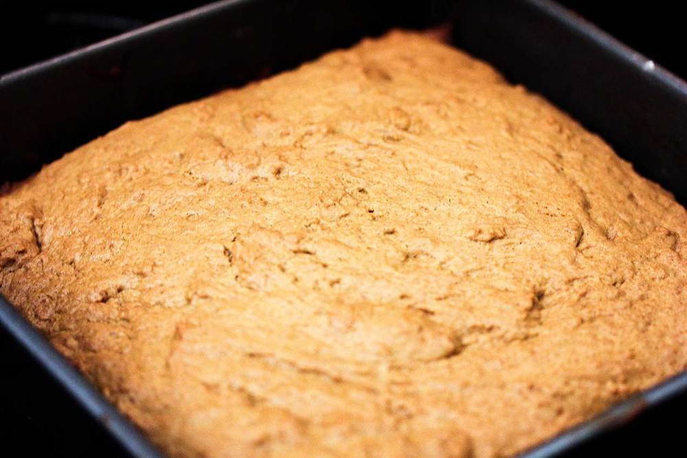 Gingerbread cake in a pan