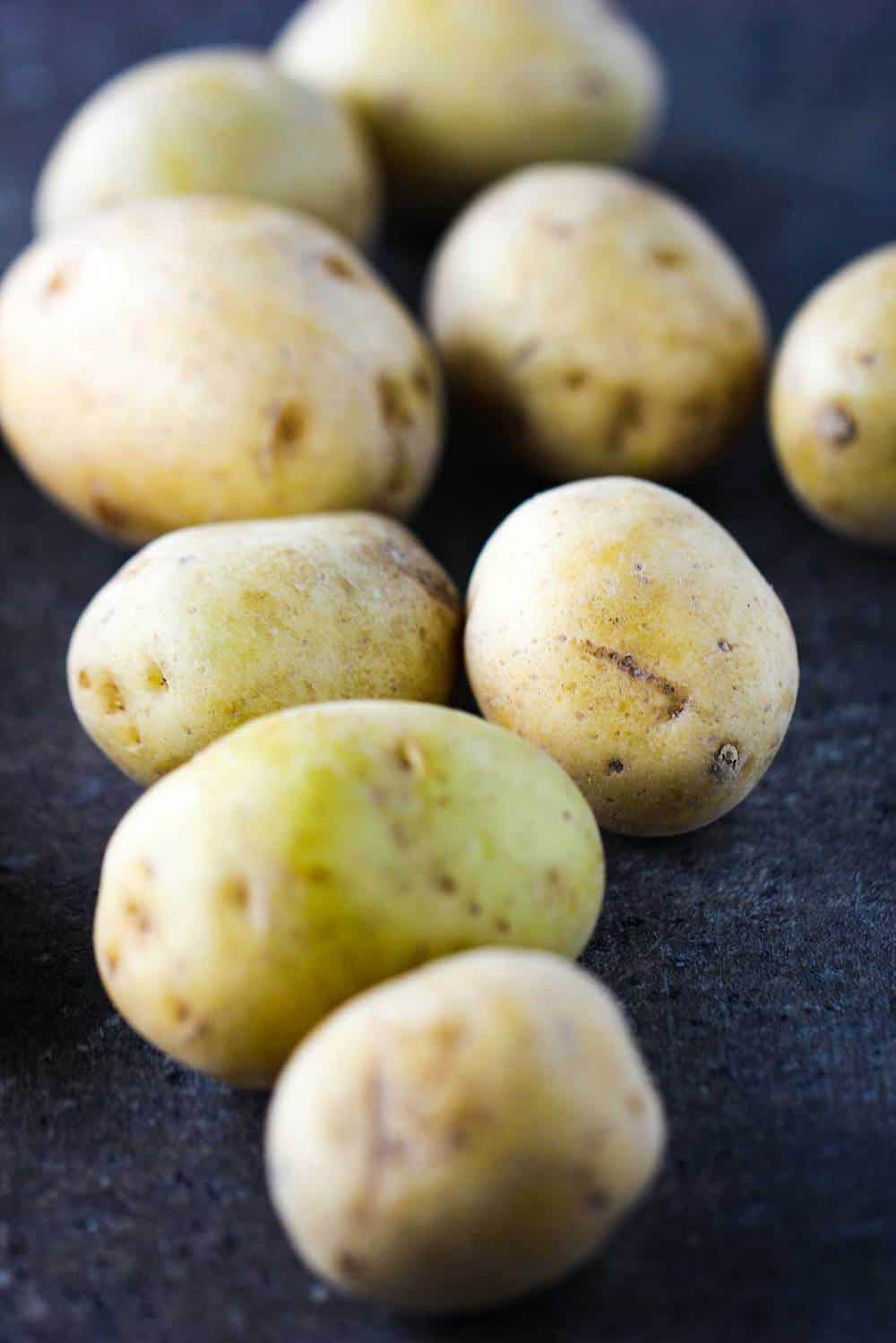 Pearl potatoes for beet and potato salad