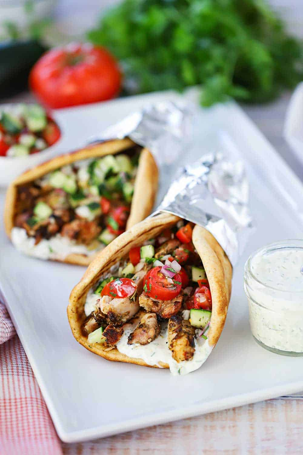 Chicken Gyro With Tzatziki Sauce How To Feed A Loon